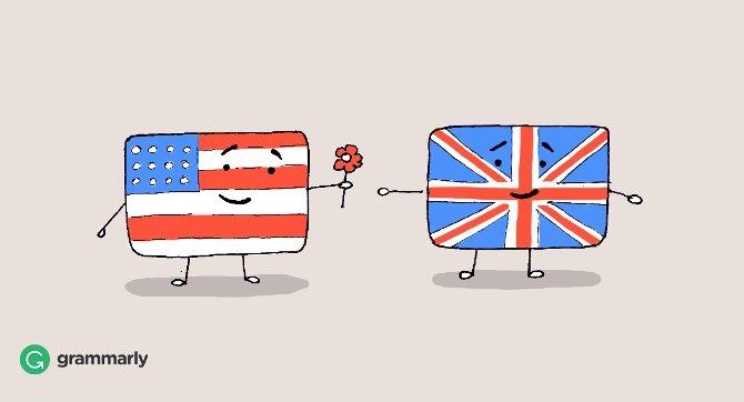 BRITISH ENGLISH - AMERICAN ENGLISH